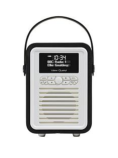view-quest-retro-mini-radio-black