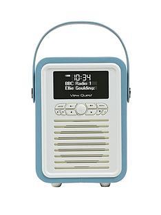 View Quest Retro Mini Radio Alarm Clock - Blue