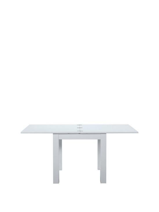 Gloss Square To Rectangle Extending Dining Table Very Co Uk