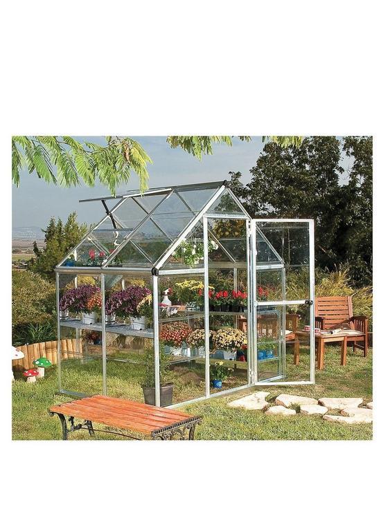 Harmony 6 x 4ft Greenhouse - Silver