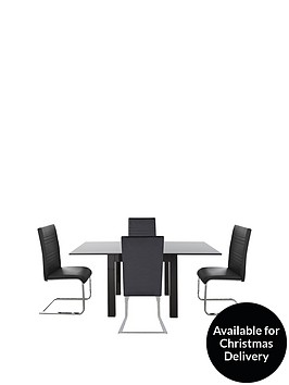 gloss-square-to-rectangle-80-160cm-extending-dining-table-4-jet-chairs