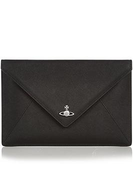vivienne-westwood-private-envelope-clutch-bag-black