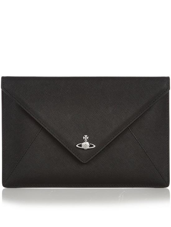 fcffff17a4 VIVIENNE WESTWOOD Private Envelope Clutch Bag - Black | very.co.uk