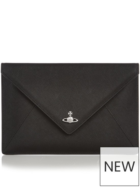 f0e3d3a7db1a VIVIENNE WESTWOOD Private Envelope Clutch Bag - Black