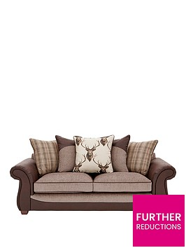 arrannbspfabric-and-fauxnbsphide-3-seaternbspscatter-back-sofa