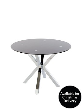 chopstick-100cm-round-glass-table-black