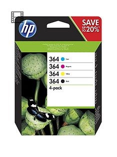 hp-364-4-pack-blackcyanmagentayellow-original-ink-cartridges-n9j73ae