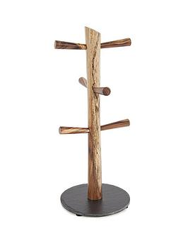 acacia-6-cup-mug-tree-with-slate-base