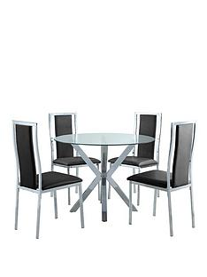 chopstick-100cm-round-glass-dining-table-4-atlantic-chairs--clearblack
