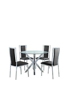 chopstick-100-cm-round-glass-dining-table-4-atlantic-chairs--clearblack