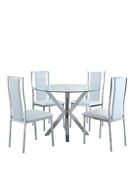 chopstick-chrome-and-glass-round-dining-table-4-atlantic-chairs-clearwhite-buy-and-save
