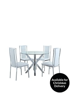 chopstick-100-cm-round-glass-dining-table-4-atlantic-chairs-white