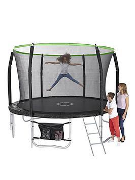 sportspower-10ft-titan-super-tube-trampoline-enclosure-ladder-amp-shoe-bag