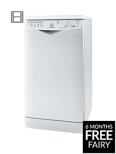 Indesit Ecotime DSR15B 10-Place Slimline Dishwasher - White Best Price, Cheapest Prices