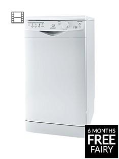 Indesit EcotimeDSR15B 10-Place Slimline Dishwasher - White Best Price, Cheapest Prices