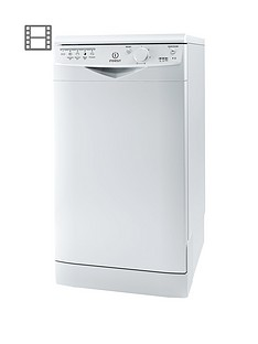 Indesit Ecotime DSR15B 10-Place Slimline Dishwasher - White