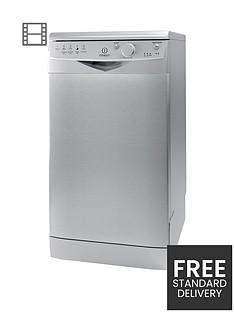 indesit-dsr15bs-10-place-slimline-dishwasher-silver