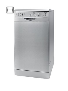 Indesit Ecotime DSR15BS 10-Place Slimline Dishwasher - Silver