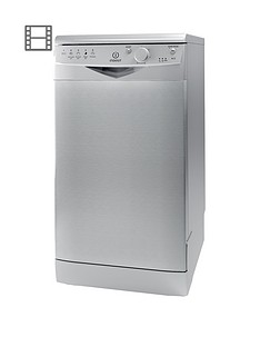 Indesit DSR15BS 10-Place Slimline Dishwasher - Silver Best Price, Cheapest Prices