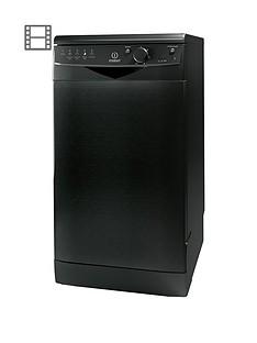 indesit-ecotime-dsr15bk-10-place-freestanding-slimline-dishwasher-black