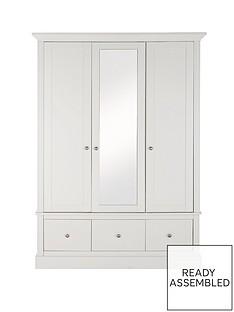 Consort Dover 3 Door, 3 Drawer Central Mirror Wardrobe