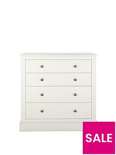 Consort Dover Ready Assembled 4-Drawer Chest