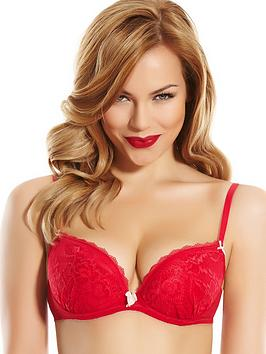 ann-summers-sexy-lace-plunge-bra-red