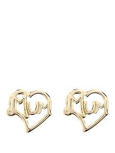 love-gold-9-carat-yellow-gold-mum-stud-earrings