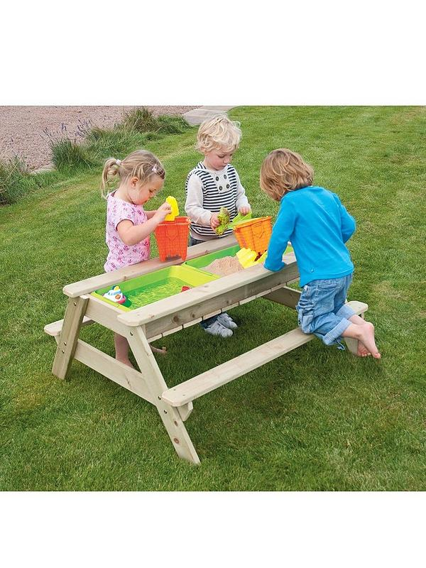 Miraculous Deluxe Wooden Picnic Table Sandpit Pabps2019 Chair Design Images Pabps2019Com