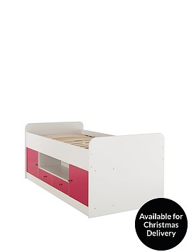kidspace-cosmo-gloss-cabin-bed-with-optional-mattress