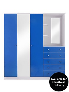 kidspace-cosmo-3-door-5-drawer-combi-fitment-wardrobe