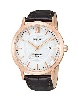 pulsar-mens-kinetic-rose-gold-dial-watch-with-brown-leather-strap