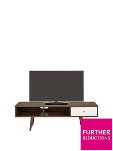 Ideal Home Monty Retro TV Unit - fits up to 65 inch TV