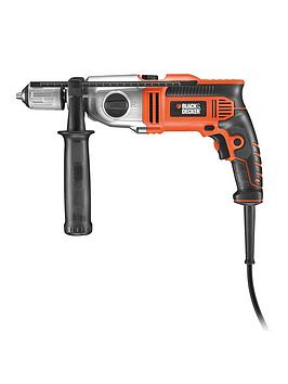 black-decker-kr7532bk-gb-750-watt-2-gear-hammer-drill