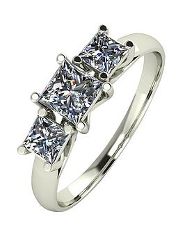 moissanite-9ct-white-gold-1ct-3-stone-square-cut-ring