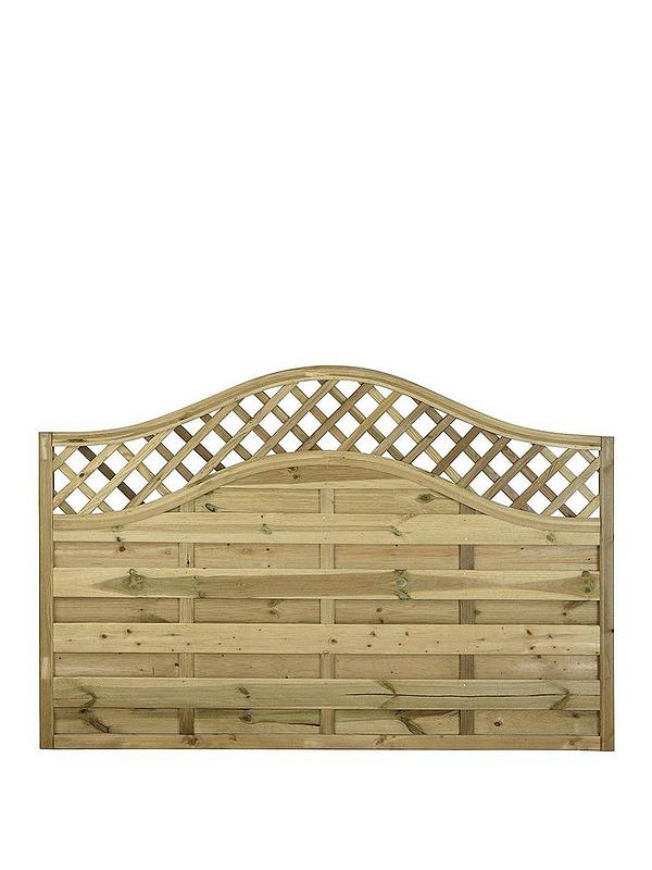 Forest 1 2m Prague Garden Fence Panels Pack Of 4 Very Co Uk