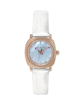 ted-baker-rose-gold-white-patent-leather-strap-ladies-watch