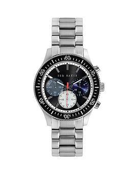 ted-baker-black-chronograph-dial-stainless-steel-bracelet-mens-watch