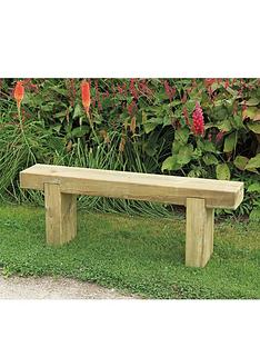 FOREST Garden Sleeper Bench   1.2m Long