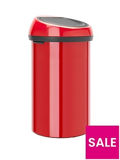 brabantia-60-litre-touch-bin-passion-red