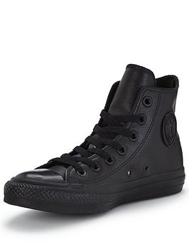 all star converse gray p5d1  Converse Chuck Taylor All Star Leather Hi-Tops