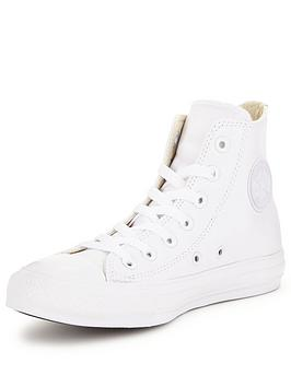 converse shoes high tops white. converse-chuck-taylor-all-star-leather-hi-tops converse shoes high tops white l