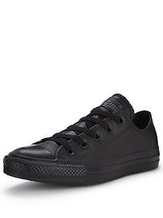 converse all star leather. converse chuck taylor all star leather ox plimsolls