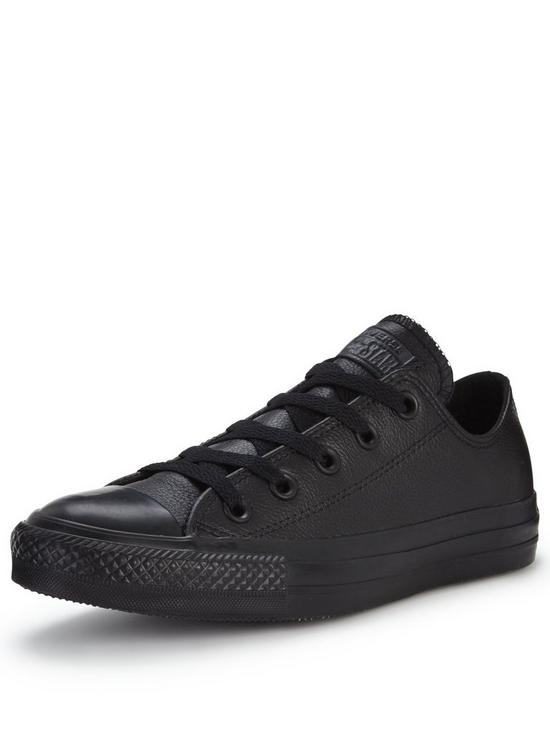 1904acfa6e17 ... order converse chuck taylor all star leather ox plimsolls very f2ebb  82054