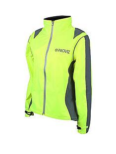 proviz-ladies-waterproof-cycling-jacket-yellow
