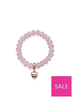 fiorelli-rose-quartz-glass-bead-and-rose-gold-tone-heart-stretch-bracelet