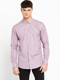 ben-sherman-ben-sherman-skinny-fit-shirt-red