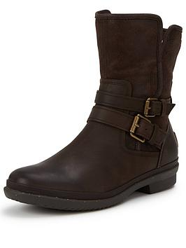 Ugg Australia Simmens Leather Buckle Ankle Boot
