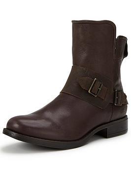 Ugg Australia Cybele Leather Buckle Ankle Boot
