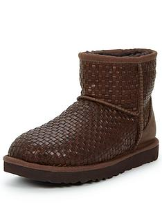 ugg-australia-classic-mini-leather-woven